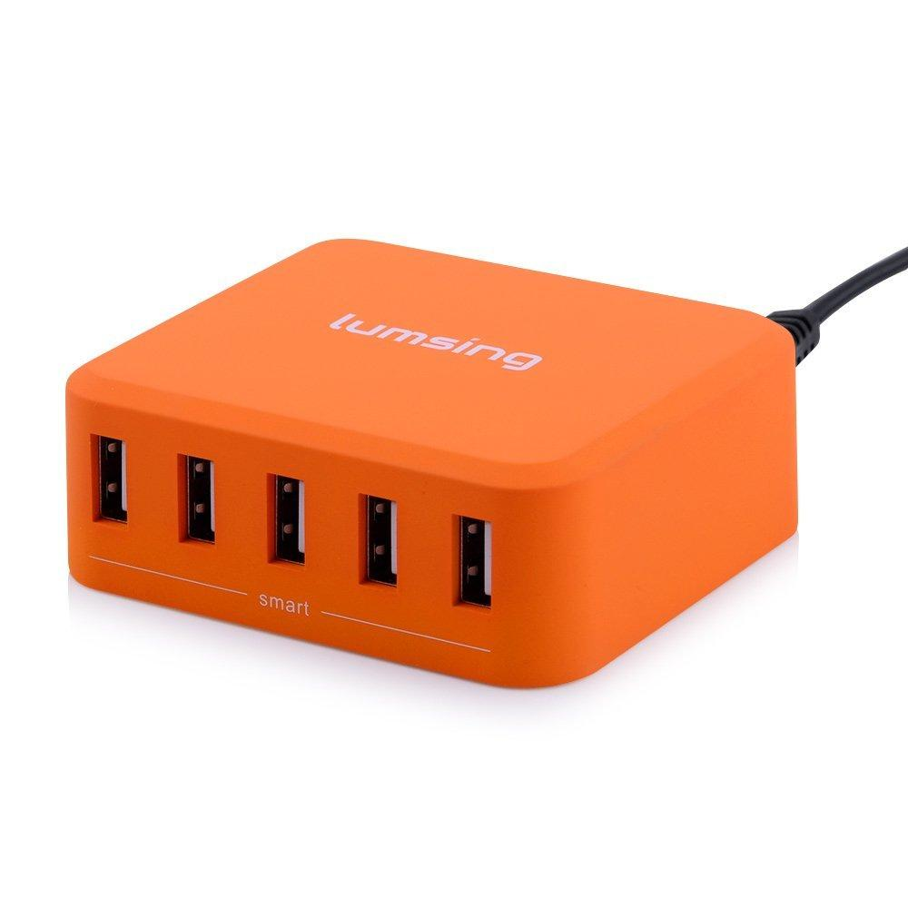 Lumsing 40W 5-Port Desktop USB Charger (4 colors available) @ Amazon.com