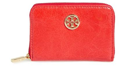 Tory Burch 'Dena' Zip Leather Coin Case