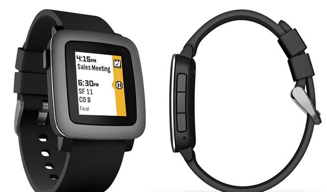 Pebble Time Smartwatch for iPhone and Android Devices