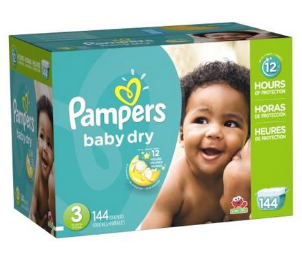 $58 2 x Pampers Baby Dry Diapers