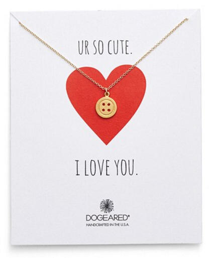 Dogeared 'So Cute' Button Pendant Necklace (Nordstrom Exclusive)