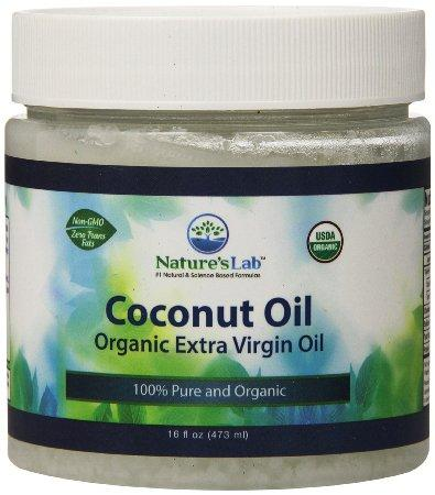Nature's Lab Coconut Oil, 16 Fluid Ounce