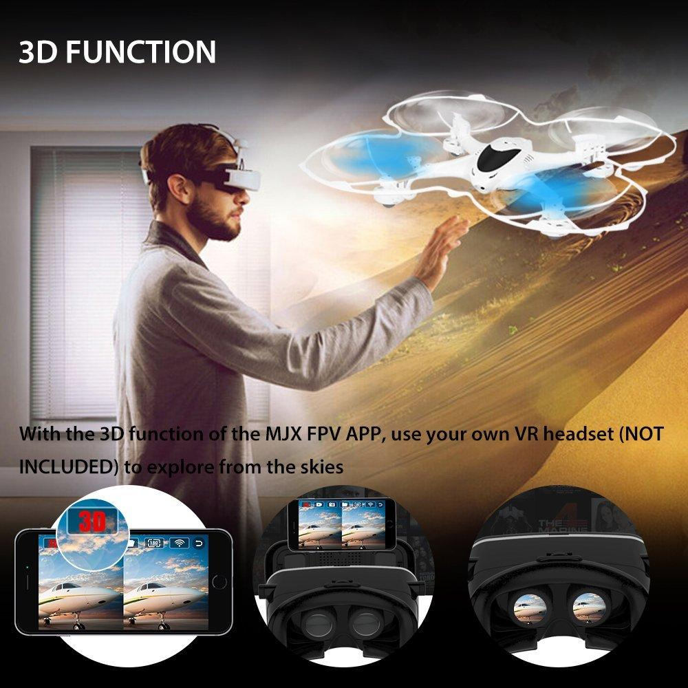 MJX X300C 4CH 2.4G 6-Axis Gyro FPV WIFI RC Drone with 0.3MP Camera for IOS and Android Headless Mode with One Key Return and 3D Function Quadcopter