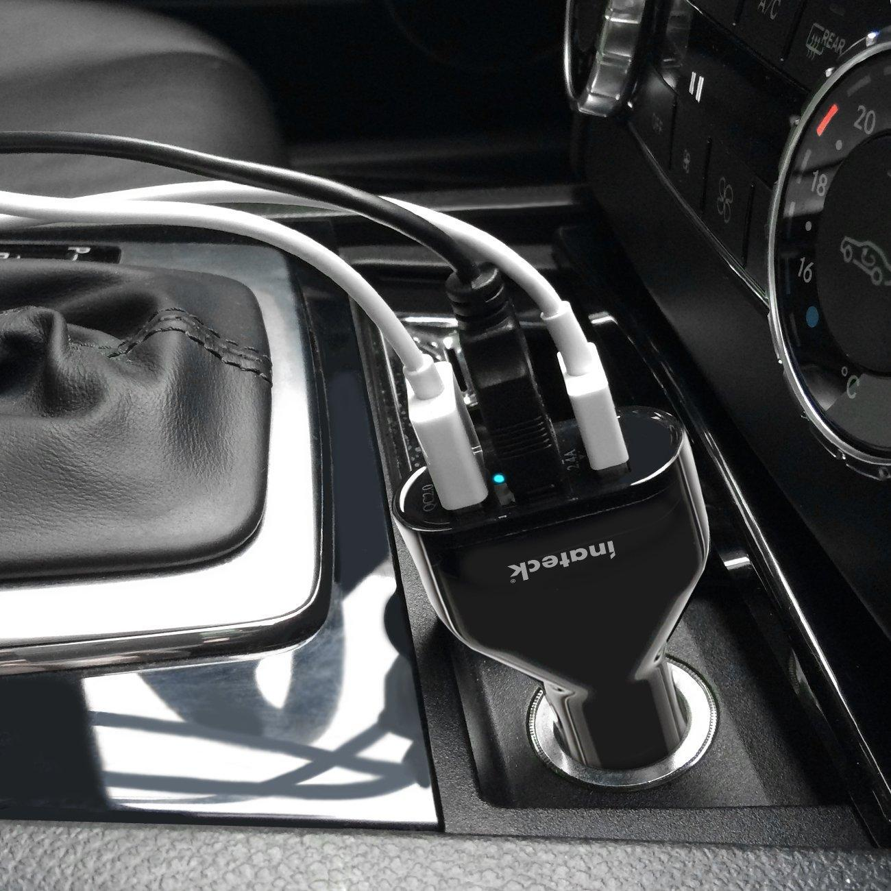 Inateck Quick Charge 30W 3-port USB Car Charger