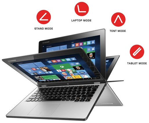 "$299.99 Lenovo Yoga 2 2-in-1 11.6"" Touch-Screen Laptop"