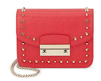 $169.99 Furla Julia Mini Leather Crossbody Bag @ Saks Off 5th