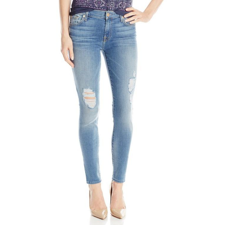 7 For All Mankind Women's Gwenevere Skinny Jean In Olivia Authentic Light 2