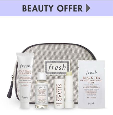 Free 5 pc gwp with any $100 Fresh purchase @ Neiman Marcus