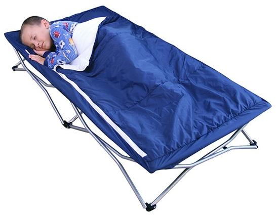 Regalo My Cot Deluxe with Sleeping Bag, Blue