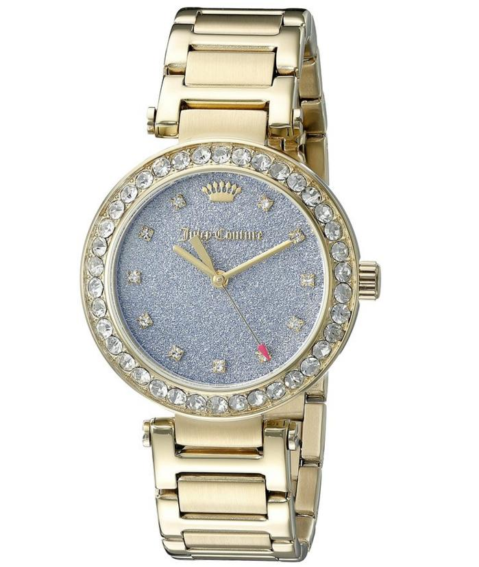 $101.45 Juicy Couture Women's 1901328 Analog Display Quartz Gold Watch