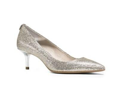 Flex Glitter Leather And Suede Pump @ Michael Kors