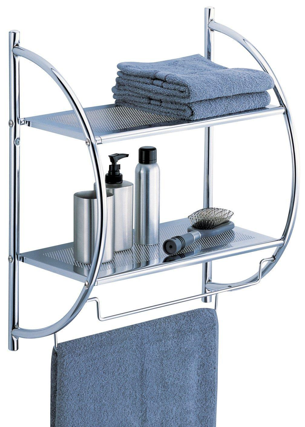 #1 Best Seller! Organize It All 2-Tier Shelf with Towel Bars (1753)