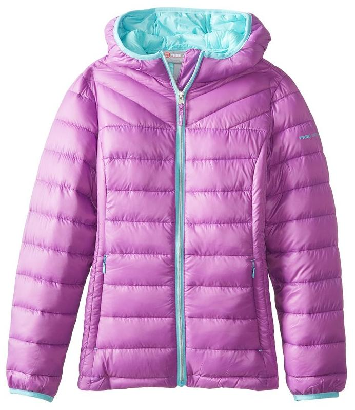 Free Country Big Girls' Down Packable Jacket @ Amazon