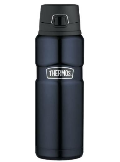 Thermos Stainless Steel King 24 Ounce Drink Bottle, Midnight Blue
