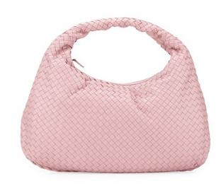 Bottega Veneta Veneta Intrecciato Large Hobo Bag, Light Pink