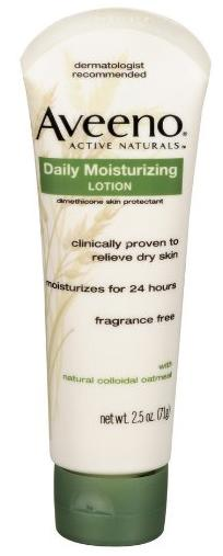 Aveeno Daily Moisturizing Lotion , 2.5 Ounce (Pack of 2)