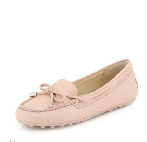 MICHAEL Michael Kors  Daisy Pebbled Leather Moccasin, Ballet @ Neiman Marcus