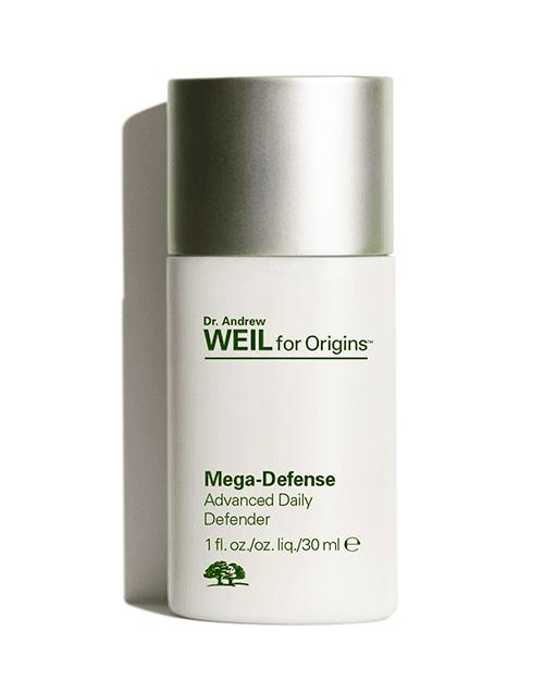 New Release Origins launched new Dr. Andrew Weil Mega-Defense UV defender SPF 45