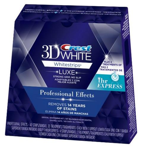$36.99 Crest 3D White Luxe Whitestrips Professional Effects 20 Treatments + 3D White Whitestrips 1 Hour Express 2 Treatments