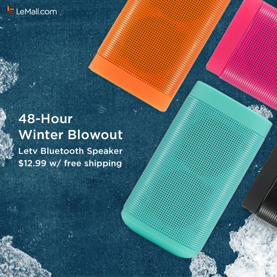 $12.99 Letv Reverse Bluetooth Speaker 48-hours Flash Sale