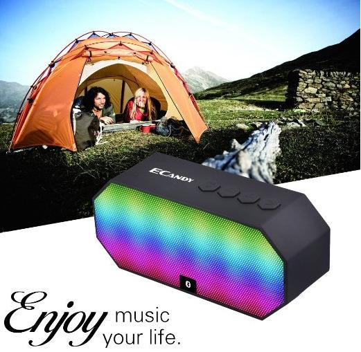 $10.99 eCandy Ecandy Portable Wireless Stereo Speaker with LED Lights