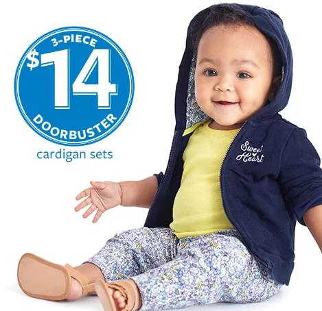 $14 3 Piece Cardigan Sets @ Carter's