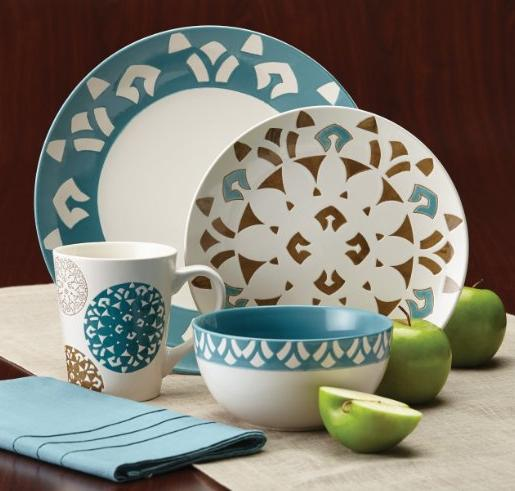 Rachael Ray Pendulum 16-Piece Stoneware Dinnerware Set @ Amazon