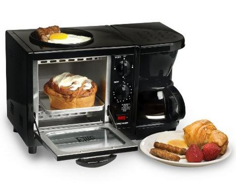 MaxiMatic EBK-200 Elite Cuisine 3-in-1 Multifunction Breakfast Deluxe Toaster Oven/Griddle/Coffee Maker