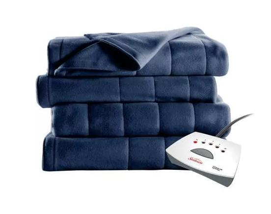 $21.99 Sunbeam Heated Fleece Electric Blanket,blue