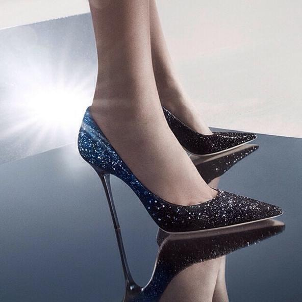 $150 GIFT CARD with Jimmy Choo Abel Glitter Pointed-Toe Pump @ Neiman Marcus