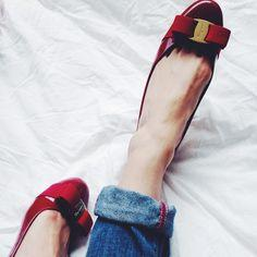 $150 GIFT CARD with Salvatore Ferragamo Vara 1 Patent Bow Pump, Red (Rosso) Purchase @ Neiman Marcus