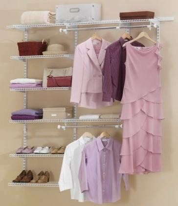 Rubbermaid Configurations Custom Closet Deluxe Kit, White, 3-6 Foot