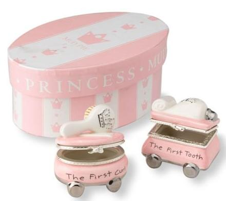 $15.91 Mud Pie Baby Princess First Tooth and Curl Treasure Box Set @ Amazon.com