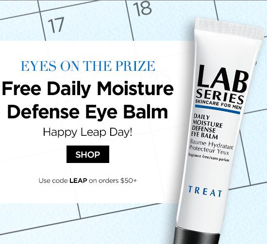 Free Full Size Eye Balm + Free Shipping With $50 Purchase @ Lab Series For Men