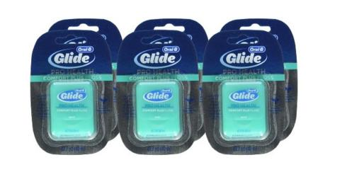 Oral-B Glide Pro-Health Comfort Plus Dental Floss, Mint, (Pack of 6)