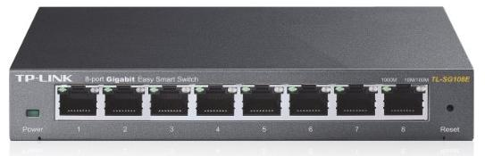 TP-LINK TL-SG108E 8-Port Gigabit Easy Smart Switch with 8 Ports