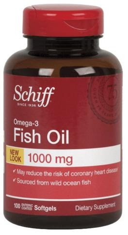 Schiff Omega 3 Fish Oil 1000mg Supplement, 100 Count