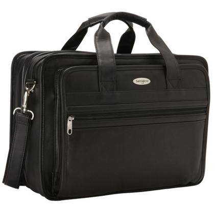 Samsonite Expandable Leather Computer Briefcase