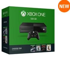 $349.99 Xbox One 500 GB Console + Additional One Game + $100 eGC