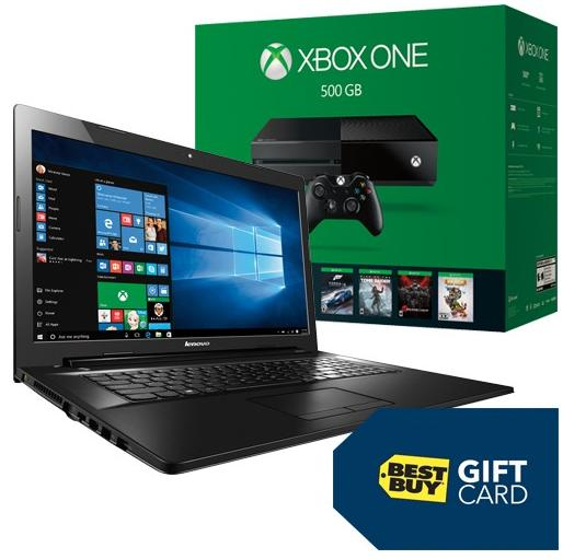 $549.98 Lenovo G70-80FF00LCUS Laptop & Xbox One Name Your Game Console Package