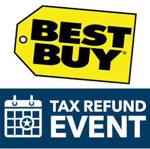Check it now! Best Buy Tax Refund EVENT