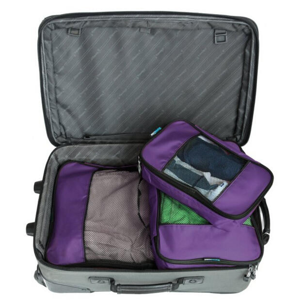 TravelWise Packing Cube System - Durable 3 Piece Weekender Set