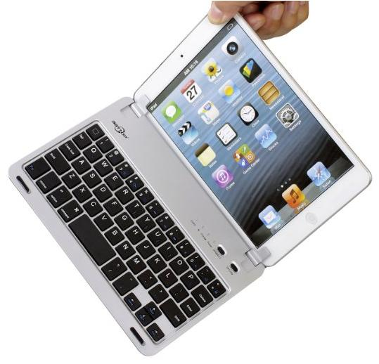 BATTOP Ultra-thin Bluetooth Keyboard Case With Stand for iPad Mini
