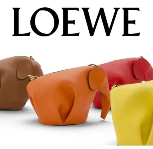 $380 + $50 GIFT CARD with Loewe Elephant Leather Coin Case, Orange Purchase @ Neiman Marcus