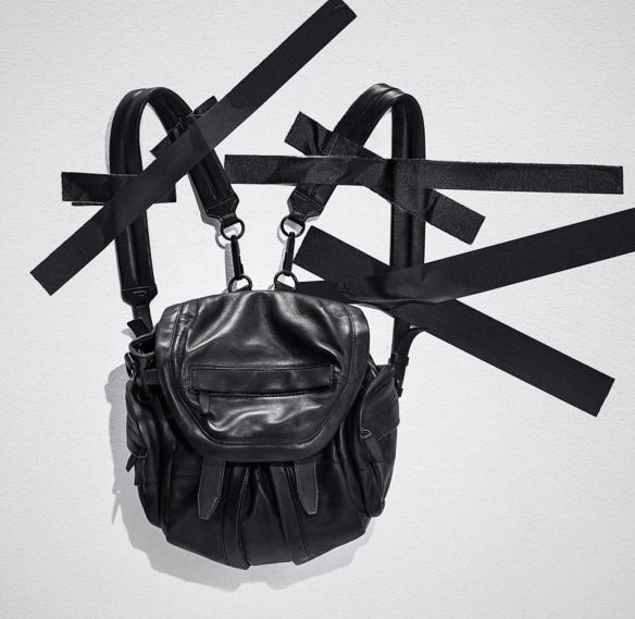 $150 GIFT CARD with Alexander Wang Marti Mini Nylon/Leather Backpack, Neptune Purchase @ Neiman Marcus