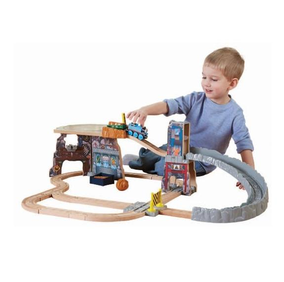 Lowest price! $34.98 Fisher-Price Thomas Wooden Railway - Thomas' Fossil Run Train Set (Tale of The Brave)