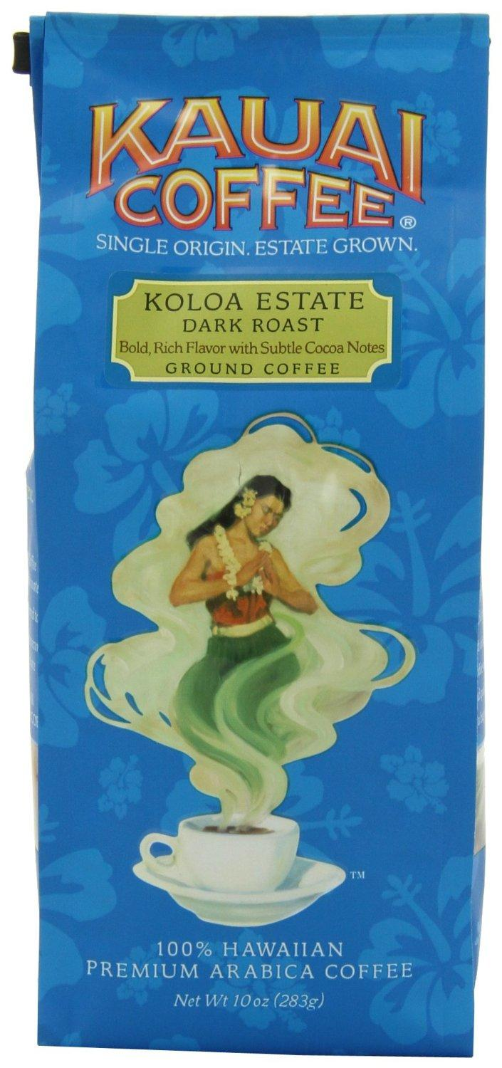 Kauai Coffee Dark Roast Ground, 10 Ounce