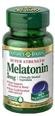 $13.46 Nature's Bounty Melatonin 5mg, 90 Softgels (Pack of 3)