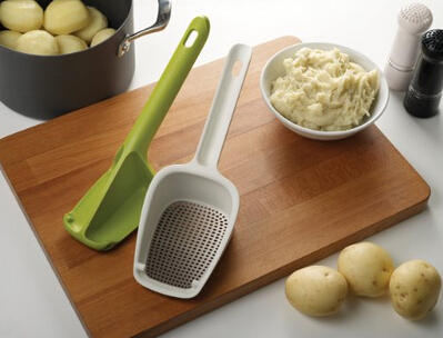 Joseph Joseph Scoop Potato Ricer/Masher and Colander, White and Green