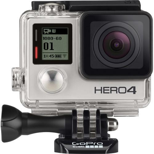 $199.99 GoPro - HERO4 Silver Action Camera w/ Dual Battery Charger 16GB Micro SD card